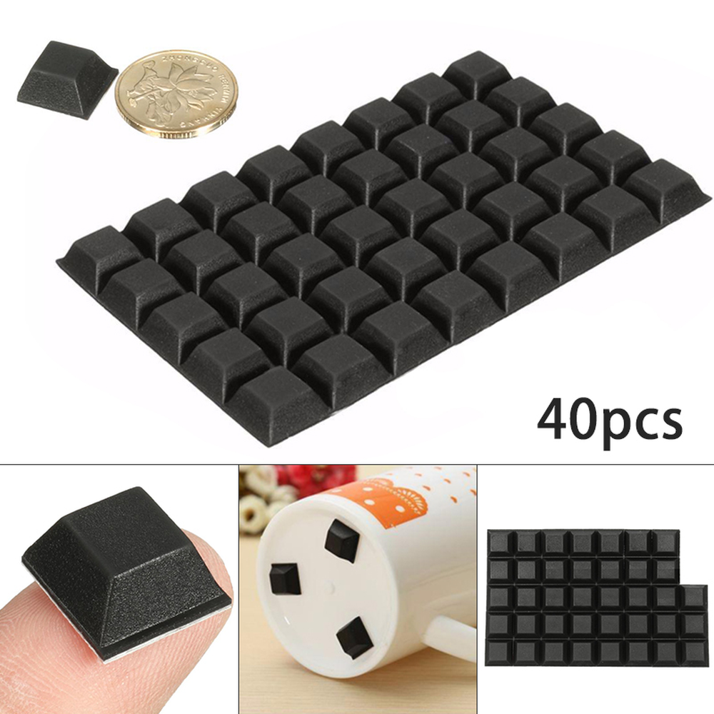 40Pcs Self-Adhesive Rubber Bumper Stop Non-slip Feet Door Buffer Pad For Home Funiture Accessories