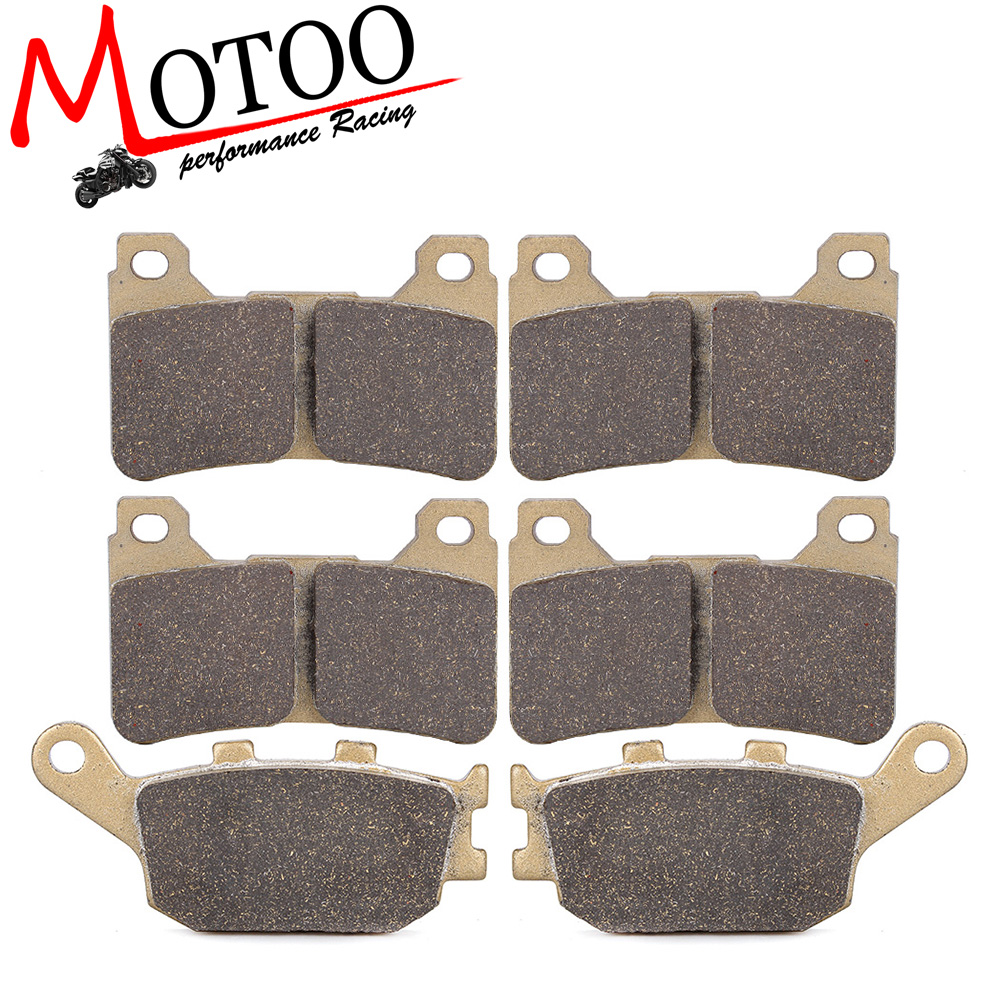 Motoo - Motorcycle Front and Rear Brake Pads For HONDA CBR600RR 2005-2006 CBR1000RR 2004-2005 motorcycle front and rear brake pads for honda xr250r xr250l xr250 r l1990 2004