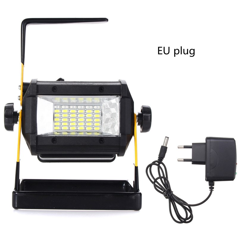 Mising Portable RGB LED Floodlight 50W 36 LED Flood Light Rechargeable Spot Work Camping Lamp Outdoor Light EU/US Plug portable outdoor camping 10w rechargeable waterproof 1 led white light project lamp w eu plug