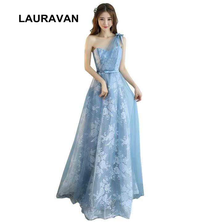 special   bridesmaids     dresses   long one shoulder dusty blue bridemaid tulle bridemaides   dress   size adult gown for wedding guest