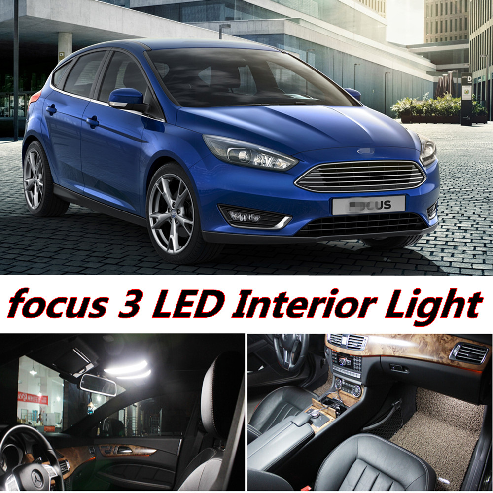 X Error Free LED Interior Light Kit Package for ford focus 3 mk3 accessories 2010-2016