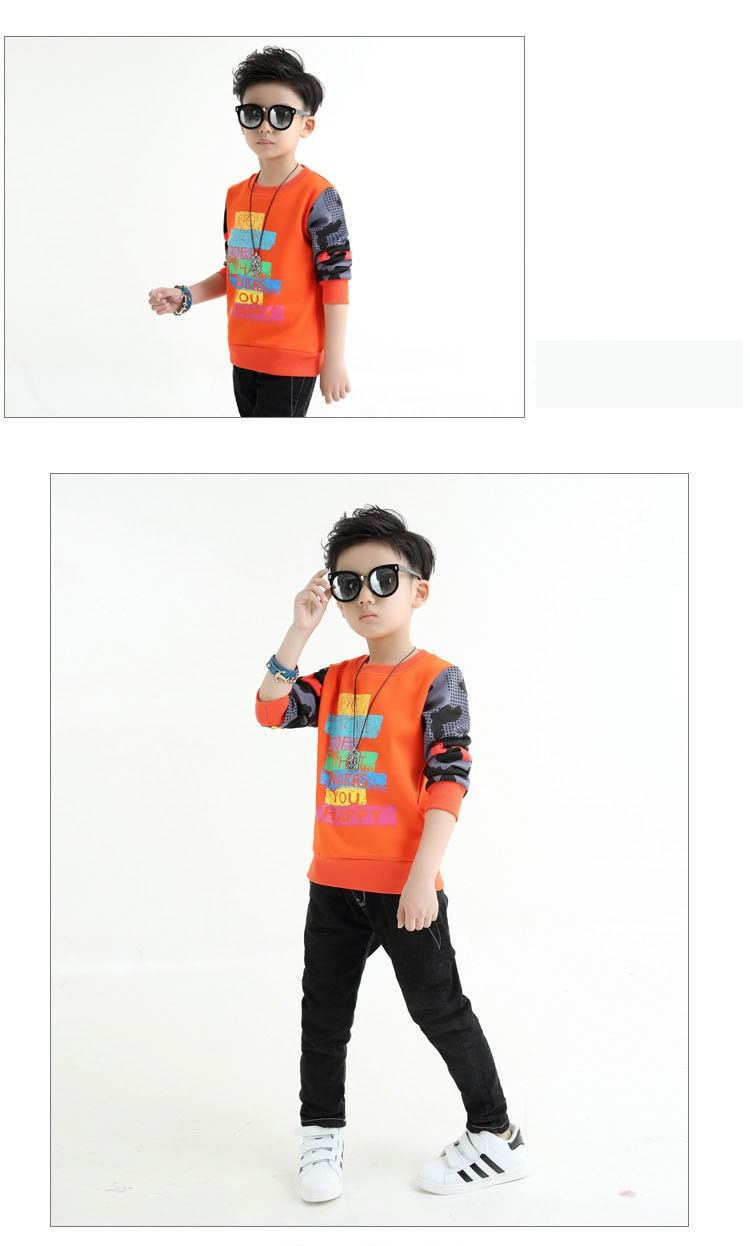 fashion casual new arrival 2017 camouflage patchwork children tops tees boys long sleeve t shirts kids clothes new 2017 spring autumn teenager boys kid t shirt clothes  (6)