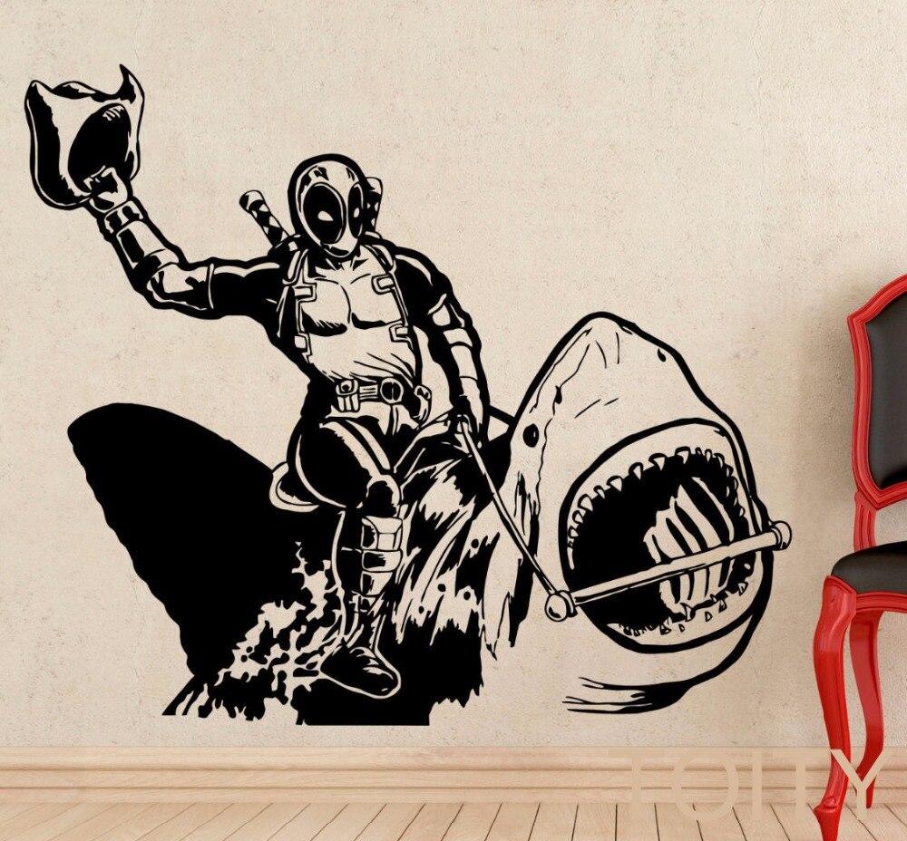 Filme De Super Her Is Deadpool Equita O Tubar O Criativo Decal  ~ Decoração Quarto Teen Com Quarto De Super Herois