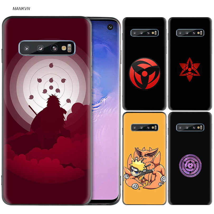 Naruto Kakashi Sasuke Preto Capa de Silicone para Samsung Galaxy M20 S10e S10 S9 M10 S8 Plus 5G S7 S6 borda Da Tampa Coque