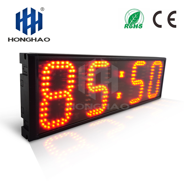 """Honghao 6"""" 4 Digit LED Large Countdown Count Up Clock Timer For Sport Race"""