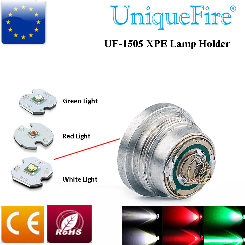 UniqueFire Cree XPE Green/Red/White Light Led Bulb Hog&Coyote Hunting Lighting Led Drop in Pill fitted for UF-1505 Flashlight
