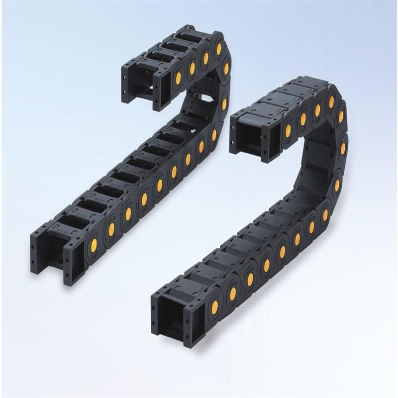 57 In 38 Stil; 77mm 1 Mt Öffnen An Beiden Seiten Kunststoff-schleppleine Kabel Drag Kette Für 3d Drucker Teile Modischer Übertragung Ketten 25x25
