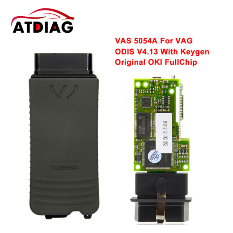 VAS 5054A with Original OKI Chips AMB2300 Support for Vag Cars VAS5054A 2017 vas5054a vas5054 odis 3 01 with oki vas 5054a full chip bluetooth support uds protocol diagnostic tool for vw seat skoda
