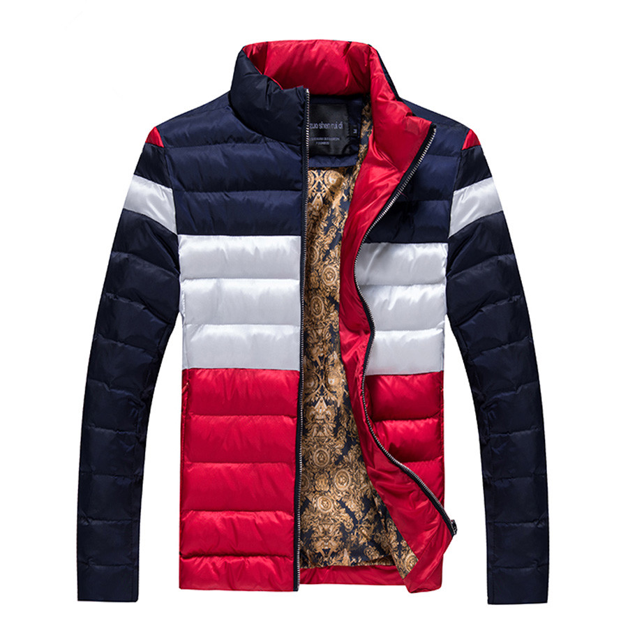 ФОТО Men Jacket And Coats Winter Warm Snow Thick Cotton Overcoats Brand Male Stand Collar Plus Size Casual Down Parka SL-M009