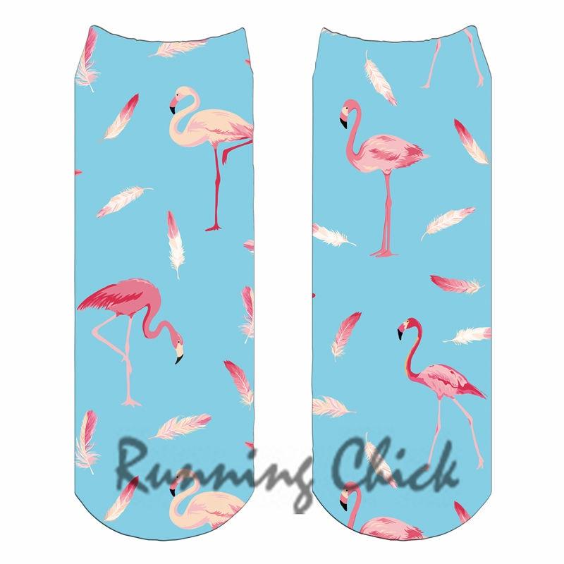 Flamingo Design 11 Laufschuhe Küken Digital Print Ankle Socken Frauen 2018 Neue