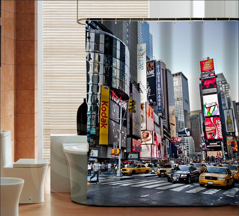 Custom New York's Times Square Shower Curtain New