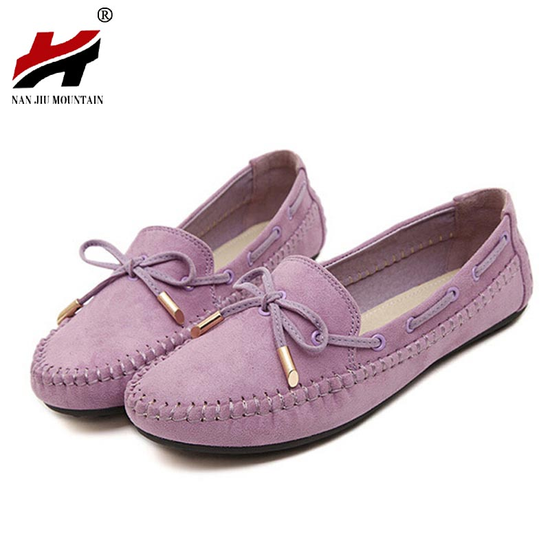 Casual Bowtie Loafers Sweet Candy Colors font b Women b font Flats Solid Summer Style Shoes