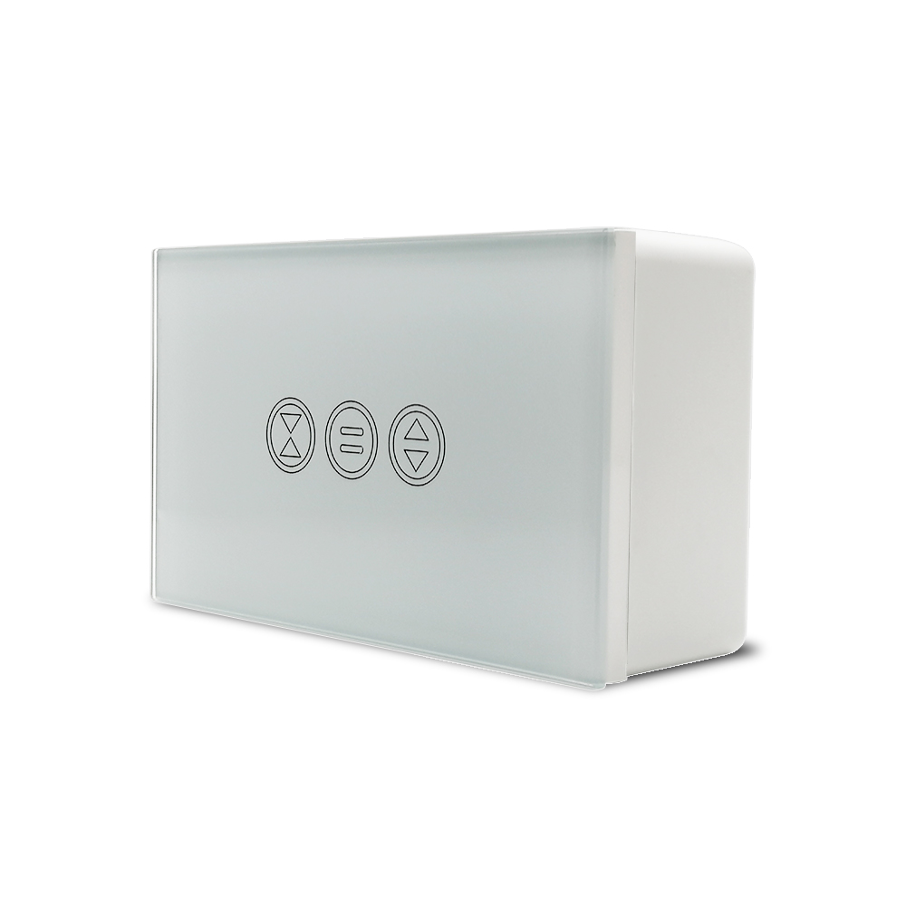 118-74mm Wall Mounted Junction Box for Curtain Blind Switch White Color Installation Box for US Standard WiFi Curtain Switch-5