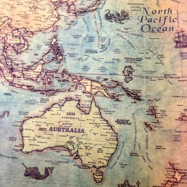 Paper World Map Sse.Online Shop Vintage The World Map Nautical Ocean Sea Maps Retro Old
