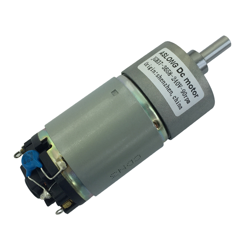 JGB37 3658D High Voltage DC Geared Motor With Capacitor