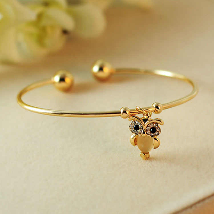 NEW fashion women lovely Opal female Owl Bracelet