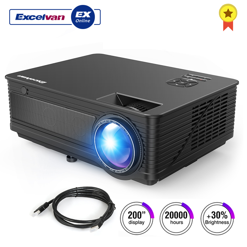 Excelvan M5 3500Lumen LED Full HD Projector Home Cinema TV 3D