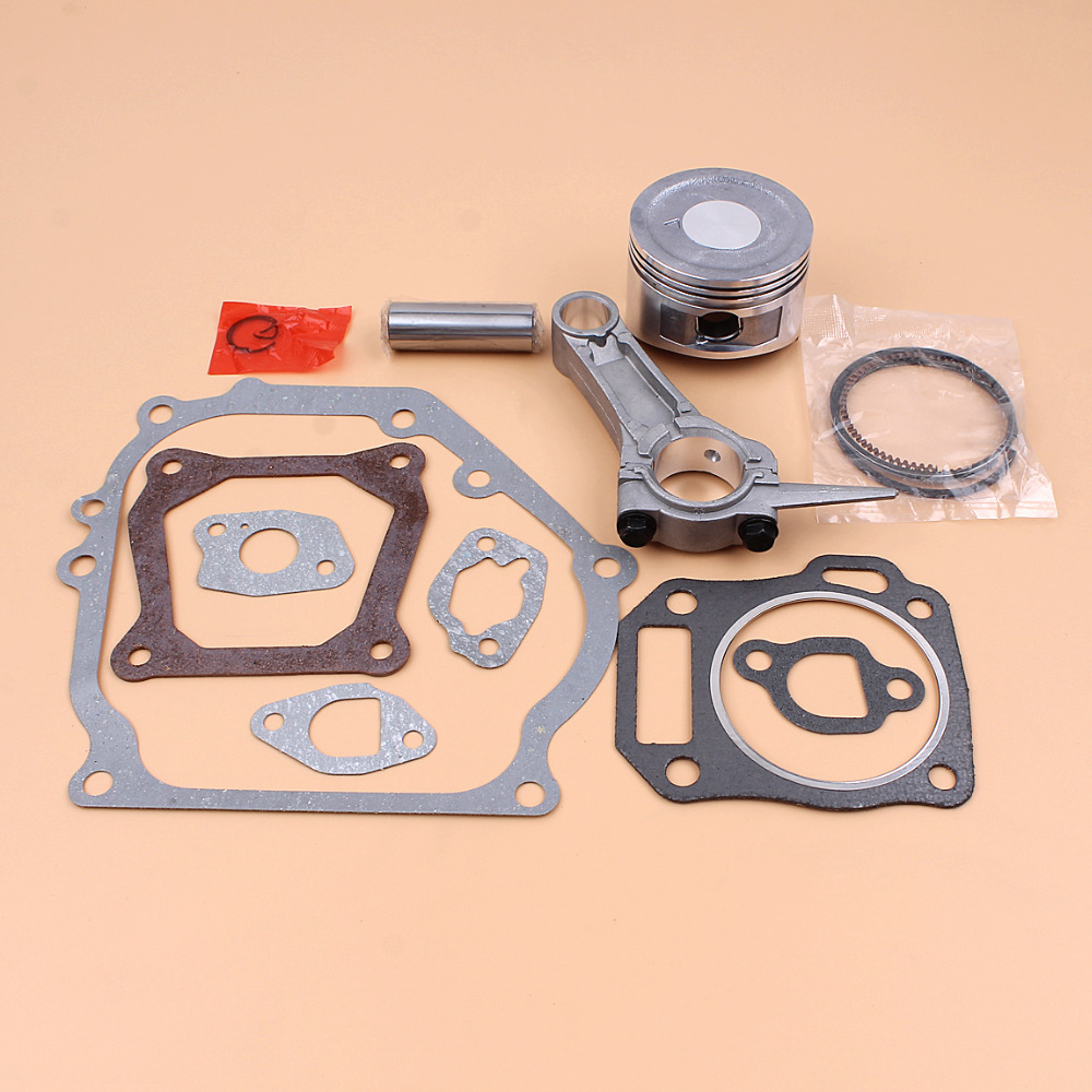Купить с кэшбэком 68MM Piston Ring Connecting Rod Engine Full Gasket Set For HONDA GX160 GX 160 5.5HP 4-Cycle Gas Engine Generator Water Pump