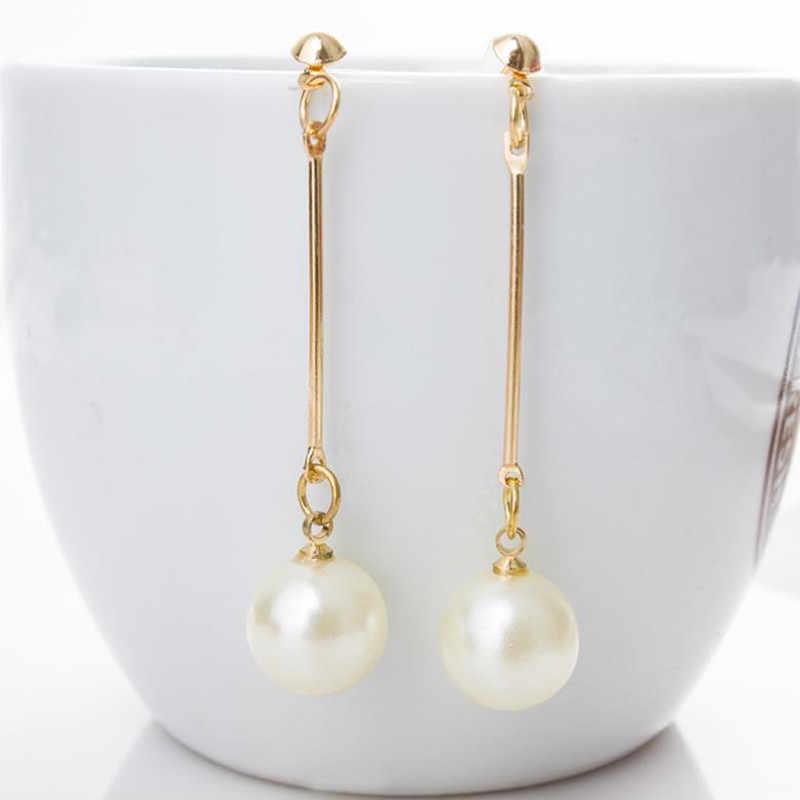 2018 New Paragraph Fashion Imitation Pearl Tassel Earrings Wholesale Jewelry Earrings Female Long Section Vintage wholesale