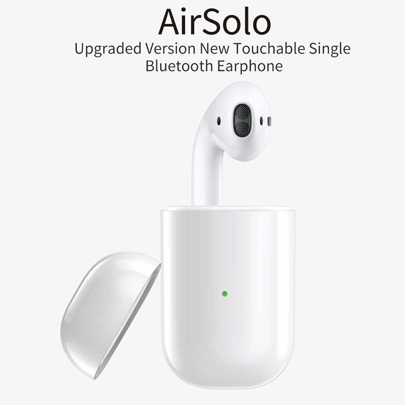 9e413401432 AirSolo Wireless Single Headphones Bluetooth Headset 5.0 Intelligent Touch  Earbuds Waterproof Air Pods Call Earphone For