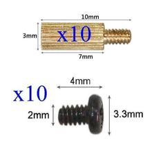 10x Standoffs (3x7mm) and Screws for Board Mount CCTV AHD TVI CVI 1080P IP WIFI IR Cameras