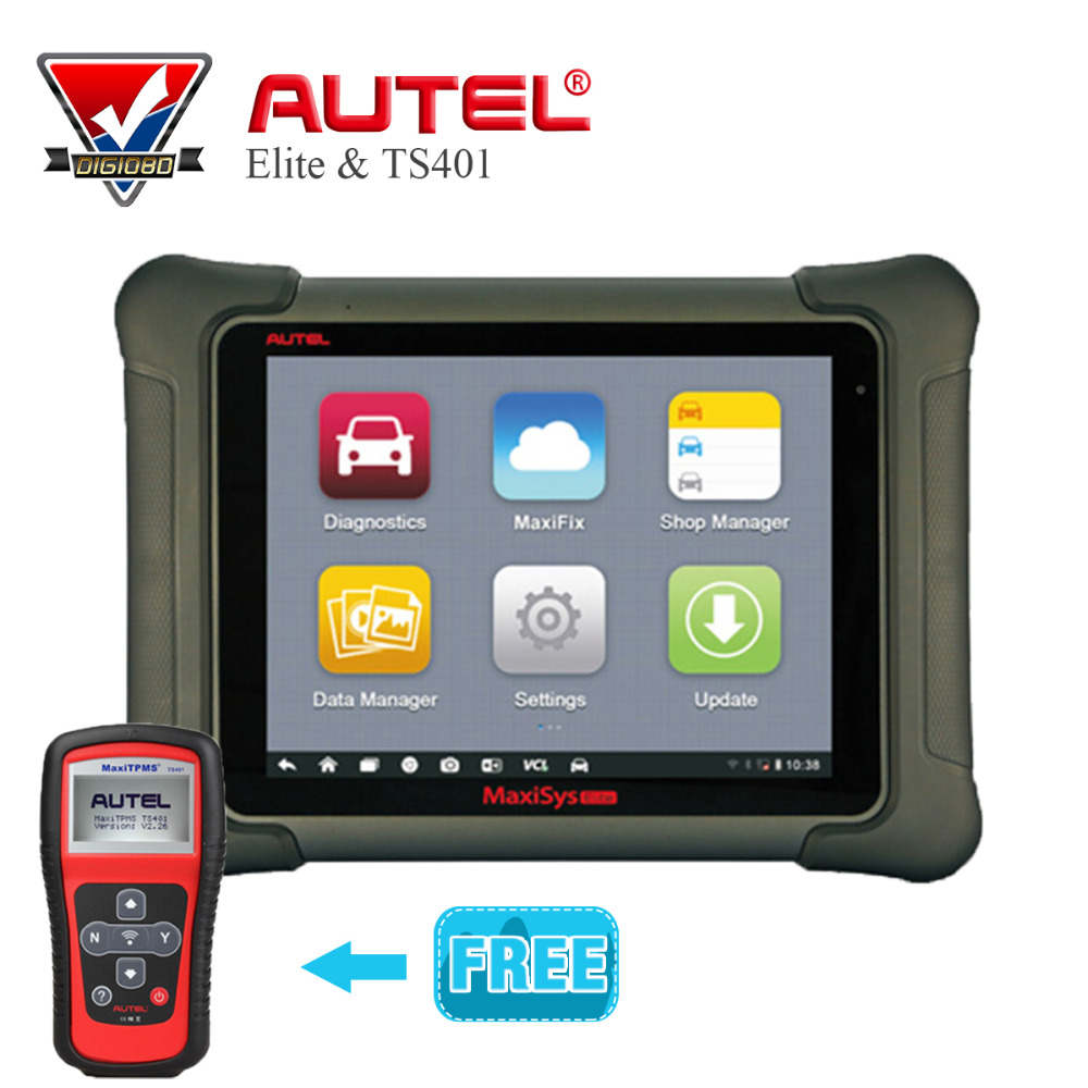Original AUTEL MaxiSys Elite Support J2534 ECU Preprogramming Update From MS908P PRO with gift MaxiTPMS ts401 Diagnostic Tool