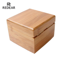 REDEAR часы площади подарочной коробке бамбука упаковочная коробка без логотипа нет бренда коробка
