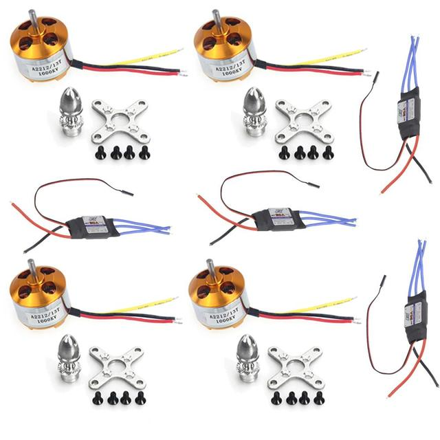 F02015-A 4Sets/lot A2212 1000KV Brushless Motor + 30A Speed Controller ESC For DIY 4 6 axle RC Quadcopter Multirotor Aircraft FS