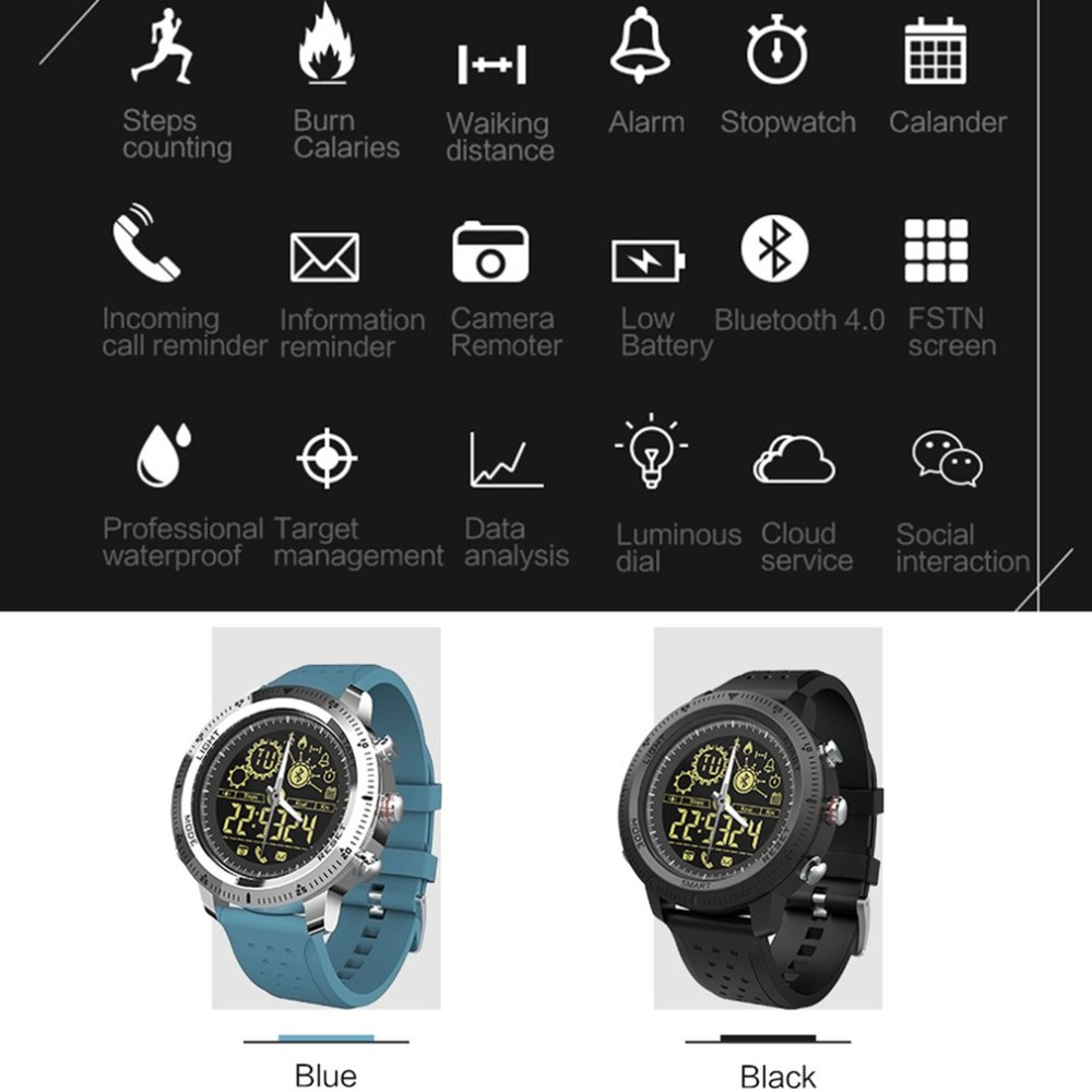 Telephone Information Prompt Ip67 Waterproof Pleasant To The Palate 2018 Hottest Smart Watch Metal Dial Solid Pointer Movement Pedometer