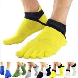 Мужские носки для мальчиков, хлопковые Дышащие носки с пятью пальцами