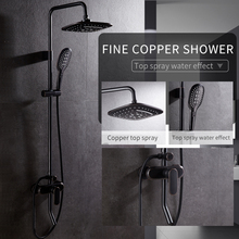 New Bronze Black Bathroom Shower Faucet Mixer Wall Mount 8