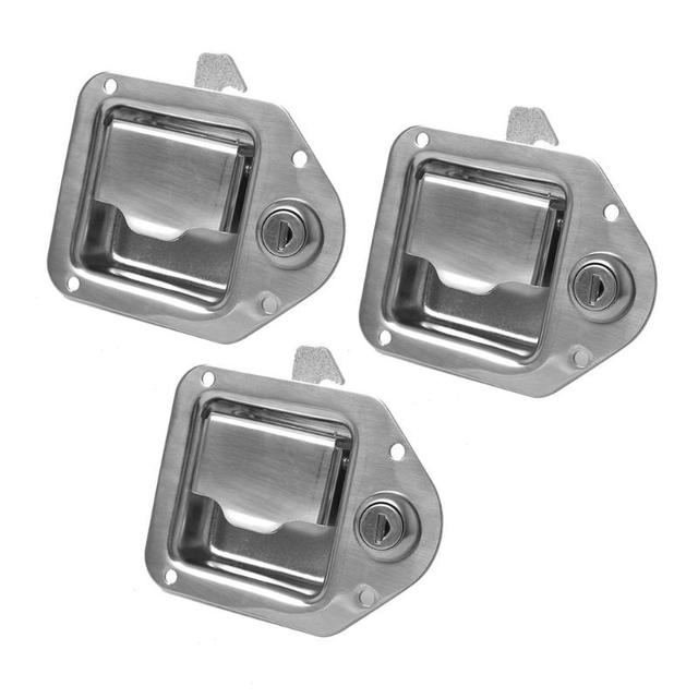 US $14 56 |Stainless Steel Paddle Latch Lock with Key for Caravan Trailer  Truck Tool Box Door Car Styling Auto Accessories-in Locks & Hardware from