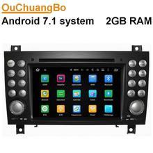 Ouchuangbo lecteur dvd de voiture pour Benz SLK 171 2004-2011 avec radio gps BT wifi USB AUX livraison carte android 7.1 OS 2G RAM