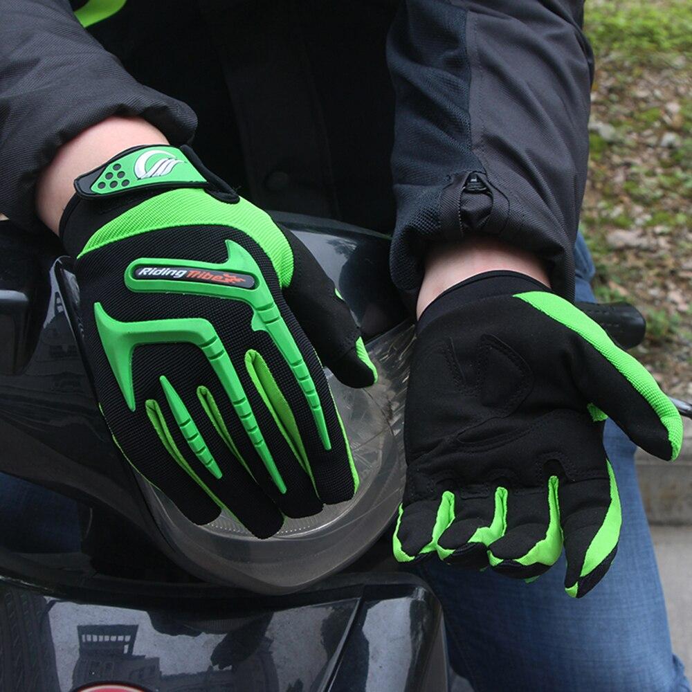 Lovaglás törzs motorkerékpár kesztyű zöld motokrossz - Motorkerékpár tartozékok és alkatrészek - Fénykép 5