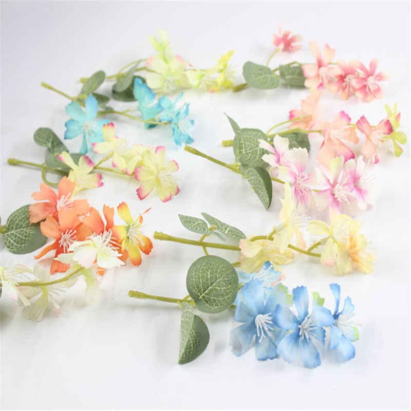 1 unids/lote flores de seda flores artificiales simulación de alta calidad crisantemo Margarita tejido hecho a mano decoración de la boda