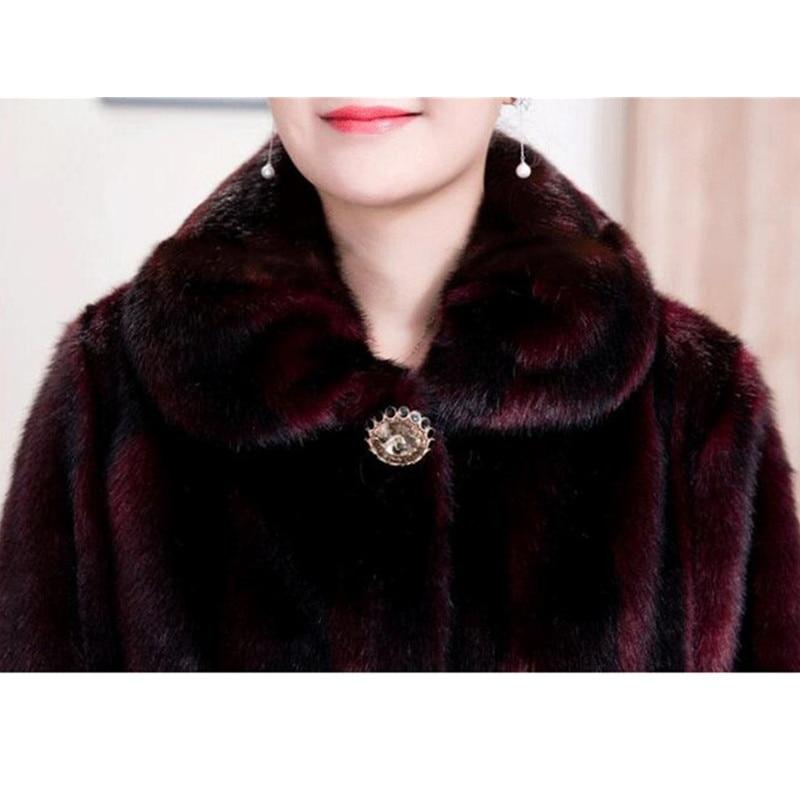 2020 Winter Women s Fur Coat Faux Mink Fur Jackets Plus size 5XL Middle aged Female 2020 Winter Women's Fur Coat Faux Mink Fur Jackets Plus size 5XL Middle aged Female Diamonds Thicken Noble Fur Coats OKXGNZ 2138