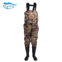 men's women Camo  waterproof waist waders pants boots Fishing hunting boots suit with chest rubber boot camouflage  pant