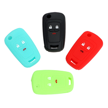 4 Colors Key Case For Car Silicone Remote Key Luminous Option Cover Case Auto Key Cover For Chevrolet Cruze 2013 3 Buttons