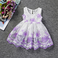 2017 New Arrivel Little Girls Dresses Sleeveless New Born Baby Flower Dress Toddler wedding Dress Baby Big Bow Lace Dress 0-12M