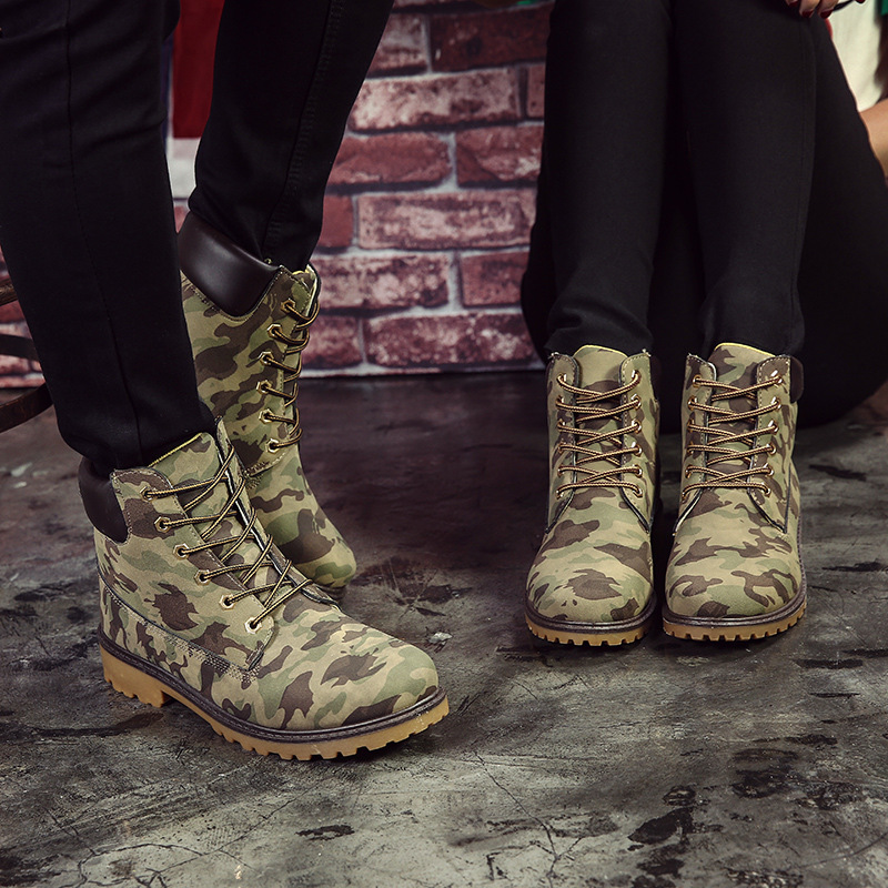 Men & Women Camouflage Ankle Boots Shoes Canvas Men And Women Army Boots Fashion Martin Boots Casual Boats New 2016