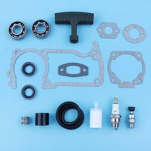 Image 4 - Crankshaft Bearing Oil Seal Decompression Valve Gaskets Set For Husqvarna 51 55 254 257 Chainsaw Fuel Line Filter Handle Grip