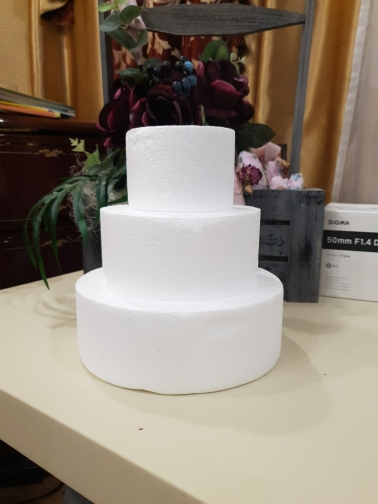 4/6/8/10 Inch Party DIY Model Cake Round Foam Mould Plastic Cake Model Round Polystyrene Styrofoam Cake Model Kitchen Accessory