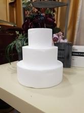 4/6/8/10 inch Party DIY Model Cake Round Foam Mould Plastic Polystyrene Styrofoam Kitchen Accessory