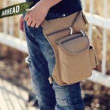 Men Canvas Drop Leg Bag Waist Fanny Pack Belt Hip Bum Military travel Multi-purpose Messenger Bags For Work Black High Quality