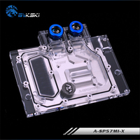 BYKSKI Full Cover Graphics Card Block use for Sapphire RX570 4G D5 ITS / RX570 PULSE ITX / Video Card Block RGB light Controller