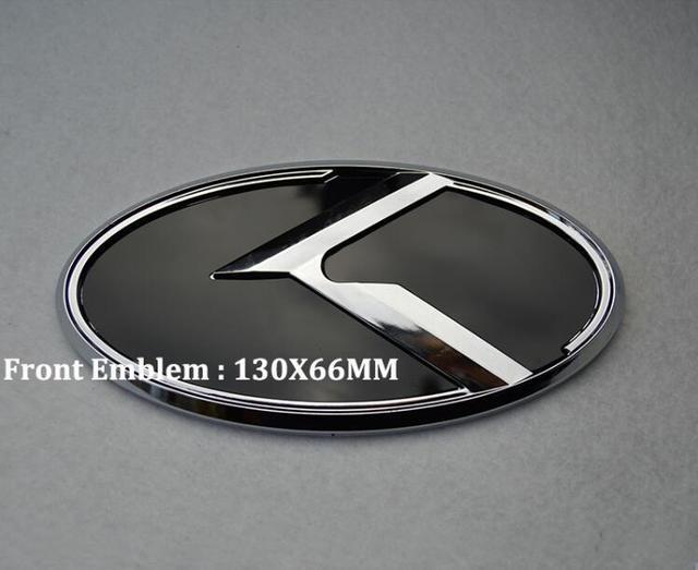 1pcs For Car K Logo Front Emblem Badge Sticker Kia K5 130mm X 66mm