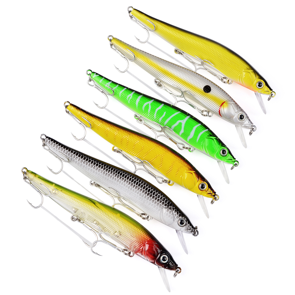 1pc top fishing bait 6 color minnow fishing lure 4 7 11 for Best fishing bait