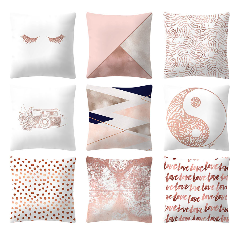 2019 Simple Linen Printed Letter Yellow Texture Pillowcases Housse De Coussin Funda Cojin Cojines Pillow Case Cushion Cover Elegant And Sturdy Package Table & Sofa Linens