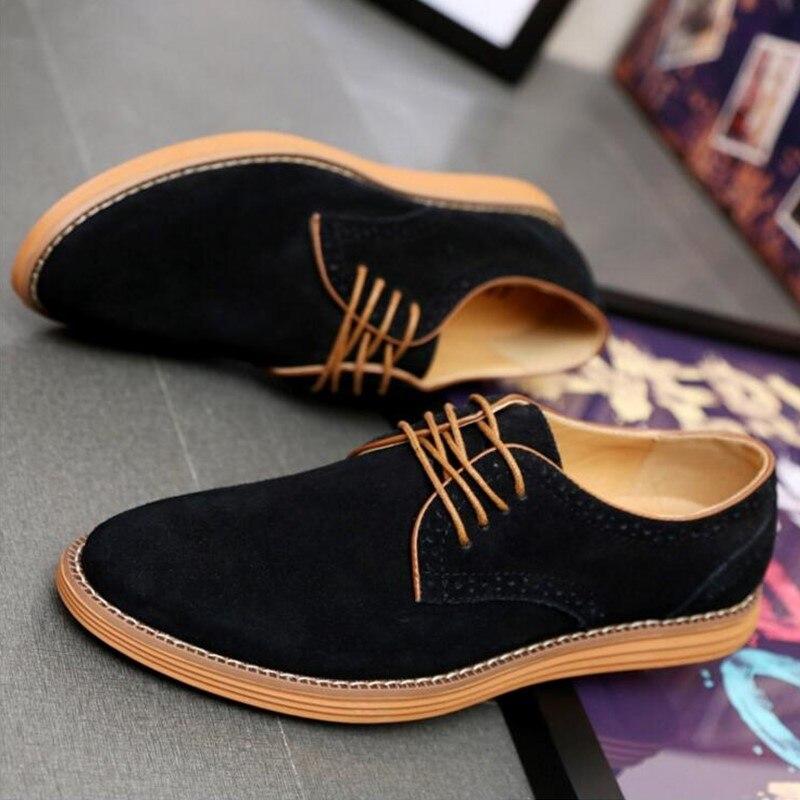 Erkek 67 Cuir Pour Ayakkab Hombre 28 Chaussures Black Noir Hommes Grande Taille gray Suédé Oxford Mocassins yellow Zapatos Casual Nice blue En brown awAqZIx5wT