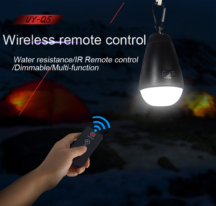 Remote Control Charging Lamp font b LED b font Waterproof Outdoor Camping Tents Lamp Dimming Power